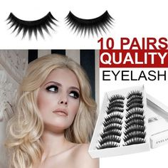 Londonmagicstore® Gadgets 10 Pairs of High Quality False Fake Eyelashes Lashes Thick & Flexible - Part of the AIO Accessories Range by AIO®. $2.90. These tipped long false lashes are evenly spread out, instantly adding  volume and style to your lashes. The inner strand of the lash is short  and the outer strands are long and at different lengths; there is eleven  thick strands on each false eyelash. Ideal for those who want a  sophisticated look. These lashes are beautifully ha...