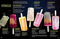It's getting hot outside so let's enjoy some naturally sweet popsicles! I shared these recipes in my cookbook, The Grain-Free Snacker. They're easy to make and very yummy! You can easily play around w sugarfreepopsicles Sugar Free Popsicles, Healthy Popsicles, Frozen Yogurt Popsicles, Popsicles For Babies, Almond Milk Popsicles, Jello Popsicles, Orange Popsicles, Blueberry Popsicles, Homemade Fruit Popsicles