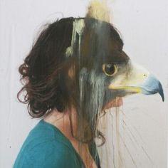 Charlotte Caron – Animali dipinti sopra ritratti fotografici