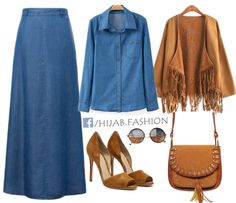 Denim & Camel Outfit Idea - Stores and Prices