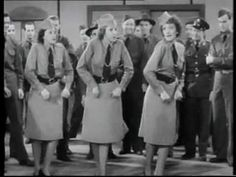 """Andrews Sisters' """"Boogie Woogie Bugle Boy Of Company B"""" From the 1941 Abbott and Costello film, """"Buck Privates. I Love Music, Sound Of Music, Kinds Of Music, Good Music, Gi Joe, Trauma, Abbott And Costello, Boogie Woogie, Thing 1"""