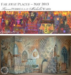 Far Away Places with Michelle Ward and Lynne Perrella, workshop samples 2013