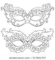 Similar Images Stock Photos Vectors of Illustration with Venetian carnival mask Vintage lace Silhouette image - 575576836 Shutterstock Carnival Crafts, Rio Carnival, Theme Carnaval, Venetian Carnival Masks, Free Adult Coloring, Holiday Costumes, Masquerade Party, Masquerade Masks, Diy Mask