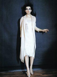 Milla Jovovich photographed by Paolo Roversi - Anna Molinari Ad Campaign: Fall 1998