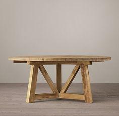"""Viga de madera recuperada 60 """"mesa redonda de comedor"""