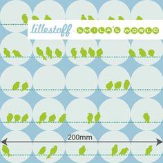 Lillestoff Blomma Birds  by Smilas World GOTS knit 50cm x 150cm
