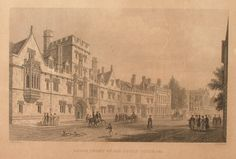 South Front of All Souls College, Oxford, 1834