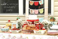 I doubt I'll ever go to all this trouble, but this is an adorable strawberry birthday party!