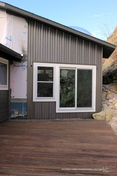Steel Siding With A Board And Batten Look Garage