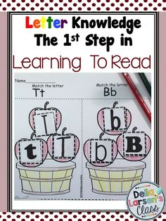 Everything you need to get started teaching reading to kindergarten students. Letter knowledge is the first step in learning to read. This resource has the rationale, student objectives, assesment and data sheets along with hands on centers activities and over 200 no prep printable