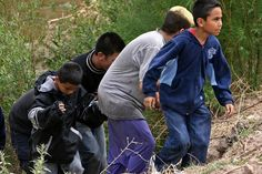 Children from Mexico can be returned back to the border, regardless of age. Children from Central America have to be taken into US custody, rather than getting turned back at the border. Congress set the rules on dealing with child migrants under the Bush Administration, despite Republican claims this is due to Obama's policy.