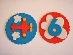 Airplane Edible Fondant Cupcake Topper by KonfectionKreations, $15.00