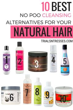 Shampoo can be very drying on our natural hair. So instead check out these 10 best no poo cleansing alternatives for your natural hair.