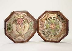 A 19th century double octagonal sailor's valentine