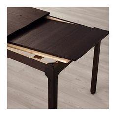 ЭКЕДАЛЕН Раздвижной стол, темно-коричневый - IKEA