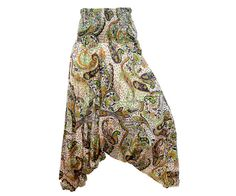 Women's Colorful Thai Harem Pants by AsianCraftShop on Etsy, $25.00