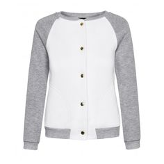 COTTON BOMBER JACKET (115 RON) ❤ liked on Polyvore featuring outerwear, jackets, white bomber jacket, white jacket, flight jacket, bomber jacket e cotton bomber jacket