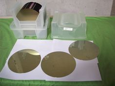 Boat of 22 Wafer Slices Bare Si  200mm (new)  SEMICONDUCTOR SILICON WAFERS #22WAFERSlices