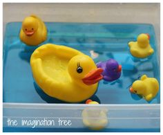 5 Little ducks went swimming one day water play counting activity