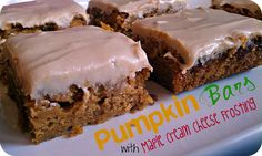 Life's Simple Measures: Best Yet! Pumpkin Bars --this recipe will be at the top of the list this fall