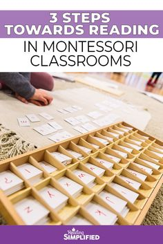 I explore how methods of reading in Montessori classrooms work and share 3 simple steps Montessori put in place to help kids become readers at an early age. Reading Strategies, Reading Skills, Teaching Reading, Teaching Kids, Reading Games, Reading Activities, Preschool Learning Activities, Preschool At Home, Fun Learning