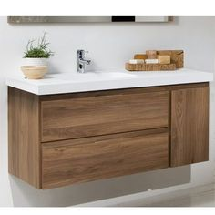 Mueble de Baño LINE COMPLET Nogal Two horizontal and one vertical pull drawer? And it floats? Laundry Room Bathroom, Bathroom Renos, Bathroom Renovations, Bathroom Furniture, Laundry Rooms, Bathroom Ideas, Vanity Bathroom, Bathroom Styling, Bathroom Interior Design
