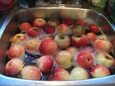 Put water and some vinegar (1 cap) in a container and soak fruits or vegetables in this mixture. Let them stay for 15 minutes and then wash fruits or vegetables well. Vinegar kills 98 % of bacteria and pesticides stuck on fruits and vegetables
