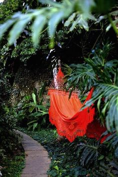 Handcrafted Cotton Hammock in crayola colors would make a perfect accent at a tropical event
