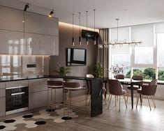 Simple Kitchen Design, Luxury Kitchen Design, Kitchen Room Design, Contemporary Kitchen Design, Luxury Interior Design, Home Decor Kitchen, Interior Design Kitchen, Home Kitchens, Apartment Interior