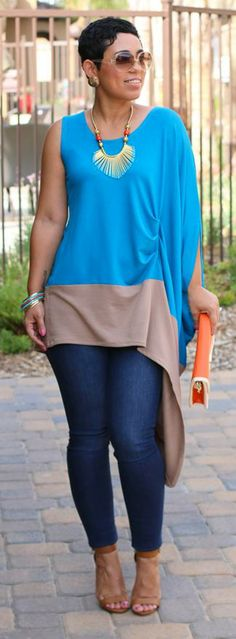 Color Blocked Top - Mimi G. @mimigstyle