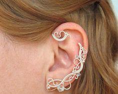 Paire de boucles d'oreilles poignets gel blanc