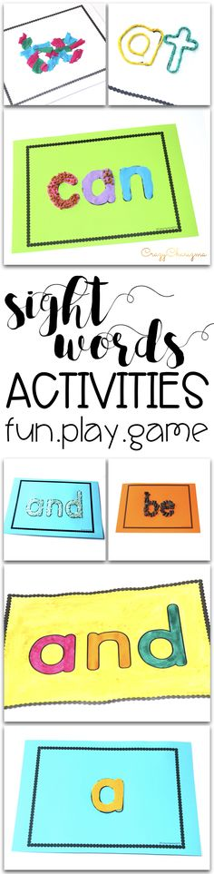 Sight Words Activities - hands on games and ideas. Have fun, learn with kids through play.