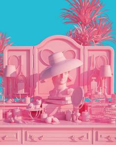 vaporwave color palette Surreal Pink Scenes by Lee Sol Fubiz Media Tout Rose, High Renaissance, 3d Prints, Everything Pink, Pink Walls, Vaporwave, Pastel Pink, My Favorite Color, Wall Collage