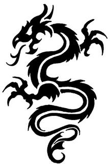 TATTOOS: Dragon Tattoo Stencils # 4