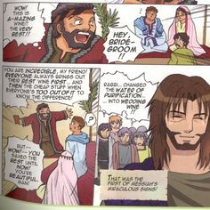 The wedding at Cana John 2:1-11 NEXTmanga.com #Yeshuah #MangaMessiah
