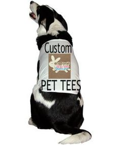 Custom Pet T-Shirts Large Dog Shirts Cat by NAESBARGAINBASEMENT