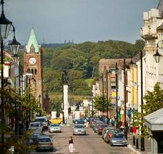 Derry, Northern Ireland-one day it'll be reunited until then remembering walking on the walls
