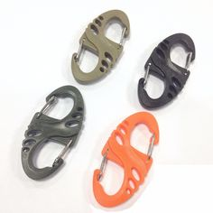 5pcs Tactical Bushcraft Webdom Web tool outdoor buckle mountaineering molle backpack Carabiner Keychain Climbing Equipment