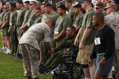 Run For The Warriors ceremony from a few years ago.  A general honors wounded at the start of the race.  This is how it should always be!  www.hopeforthewarriors.org.