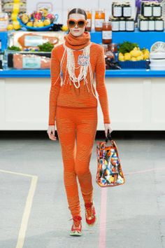 Perfect World Series outfit - but the scarf should be black! Chanel F/W 2014 - #OrangeOctober