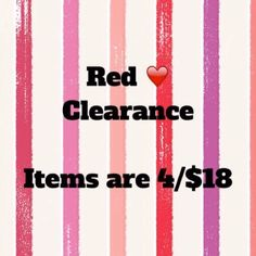 Clearance.  ❤️items 4 for $18 Clearance.  Ask me to bundle and I will create listing and then drop price to try for reduced shipping. Other