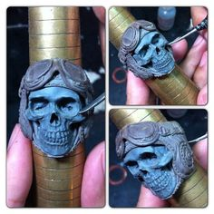 It's a handmade 3D skull ring based on lead free pewter by Fourspeed Metalwerks, a top class brand that have worked with well known musicians, artists and professional athletes.www.fourspeed.comwww.fourspeedmetalwerks.bigcartel.com