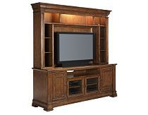 This entertainment center is beautiful. The lighting is a good way to accent decorations. Someday......