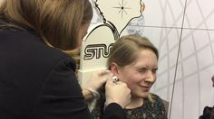 Ear piercing with St