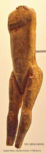 statuetta di donna, Laugerie Basse. 17.000 anni fa