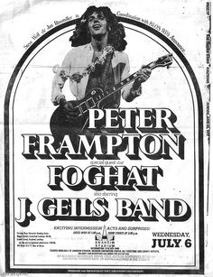 613 best music books movies images on pinterest music posters 1970 Chevy Impala peter fr ton foghat j geils band july 1977 band posters music