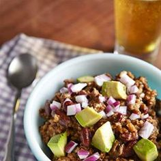 Anything but dainty, this healthy cowboy beef and bean chili recipe is hearty with the addition of mushrooms and beer.