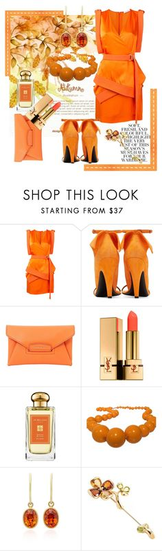 """""""Autumn"""" by forgottenmelody ❤ liked on Polyvore featuring Thierry Mugler, Givenchy, Yves Saint Laurent, Jo Malone, Furla, Mallary Marks, Folio and Chanel"""