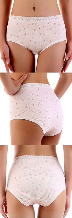 US$ 6.00 Pure Cotton Breathable High-waisted Briefs Panties