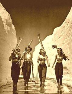 — tearingthepages: Early ski bunnies .. .